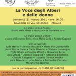 21 3 21 La voce degli alberi e delle donne – Giardini di via Palestro Milano