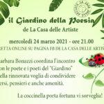 24 3 21 Il Giardino della Poesia in diretta