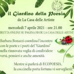 7 4 21 Il Giardino della Poesia online - ore 21.00