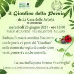 23 6 21 Il Giardino della Poesia al Parco Segantini di Milano