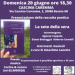 20 6 21 Besate: Agnese Coppola con «La sete della sera» alla Cascina Caremma