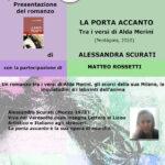 30 9 21 Alessandra Scurati con il romanzo «La porta accanto - tra i versi di Alda Merini»